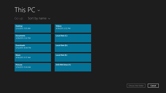 Tick select folder