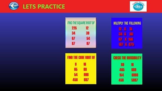Vedic Math practice mode