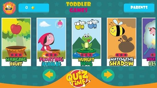 GS Kids! Toddler games main menu