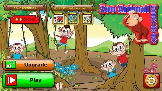 Preschool abc zoo main screen