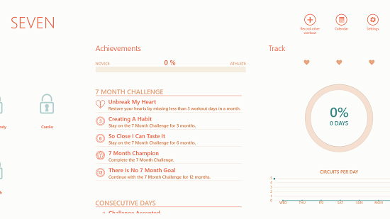Seven - 7 Minute Workout Challenge achievements