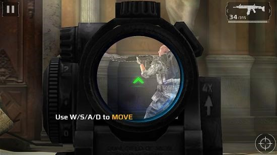 Modern Combat 5 Blackout scope