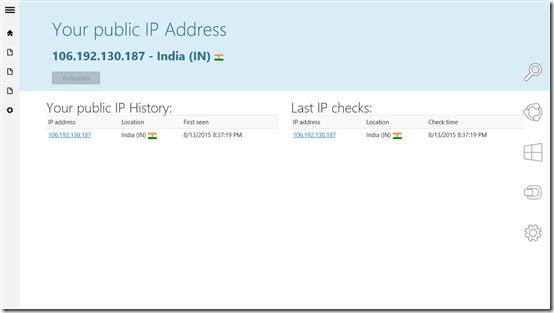 My IP Address Report