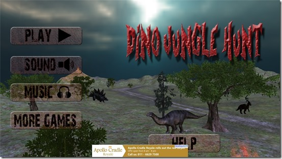 Free Adventure Game For Windows 8: Dino Jungle Hunt