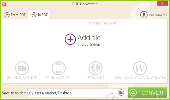 Icecream PDF Converter Pro 2.75 Crack & Serial Key Full