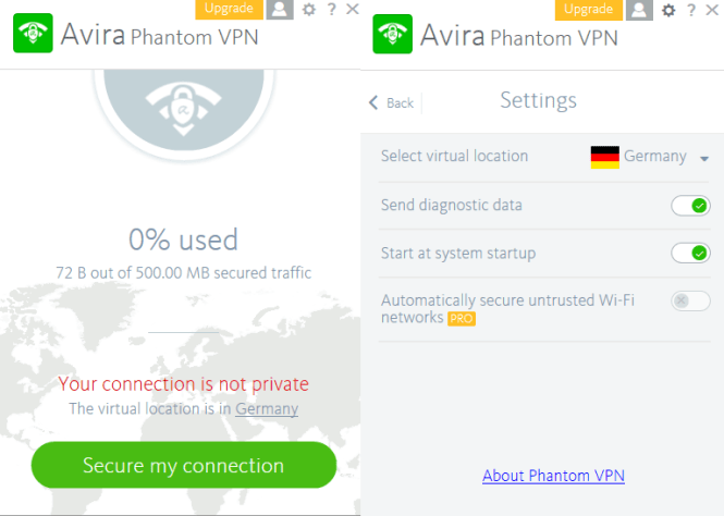 Avira Phantom VPN 2018 Crack + Keygen Free Download