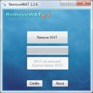 RemoveWAT 2.2.6 Windows Activator, Specially Windows 7