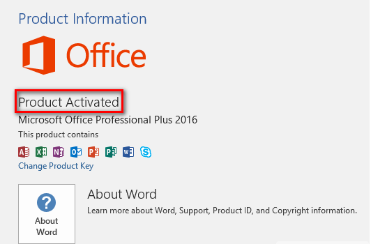 activate free Microsoft Office 2016