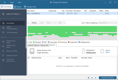 AusLogics Disk Defrag Pro latest version