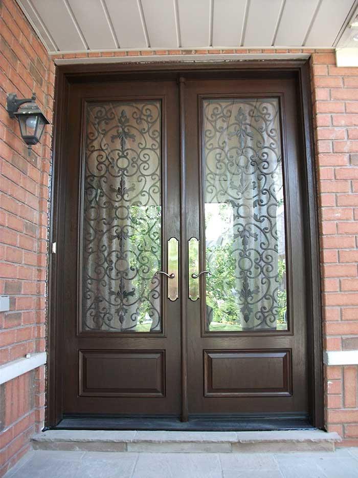 Custom Doors 8 Foot Milan Design Double Front Doors With