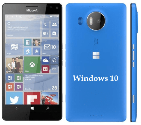 Diseño e interfaz de Windows 10 en Lumia 950