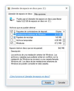 01 Liberar espacio en disco en Windows 10