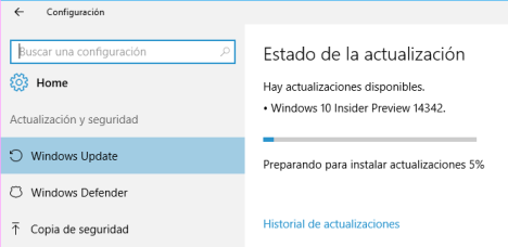 Windows 10 Build 14342