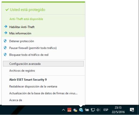 regla firewall ESET Smart Security