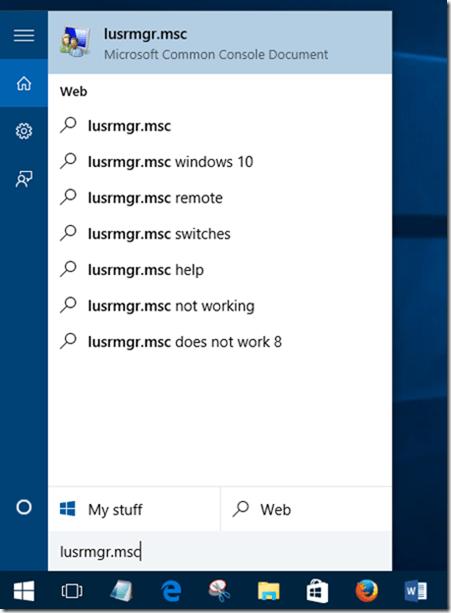 Activar cuenta de usuario en Windows 10