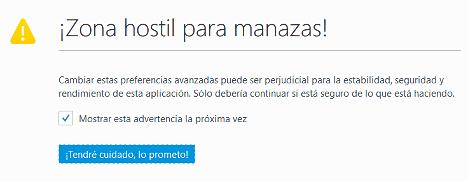 Acelerar Firefox cambiando la configuracion