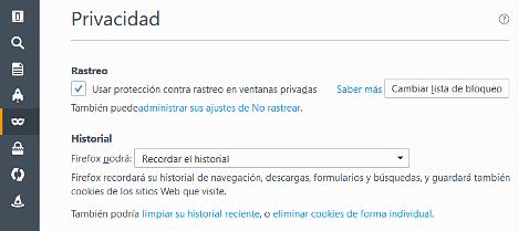 Acelerar Firefox eliminando el historial
