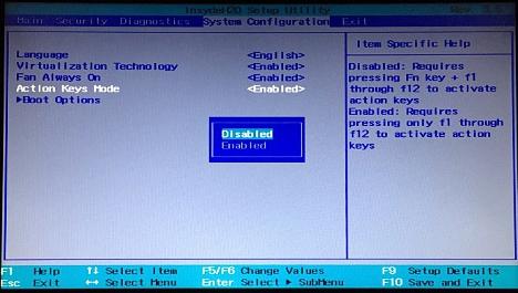 Activar las Opciones Multimedia desde la BIOS