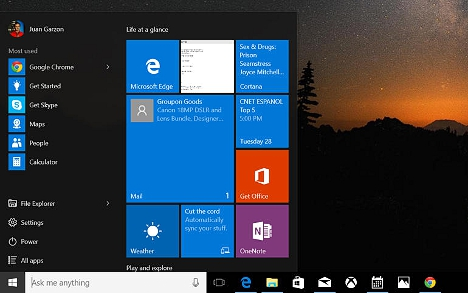 Menu de Inicio Windows 10