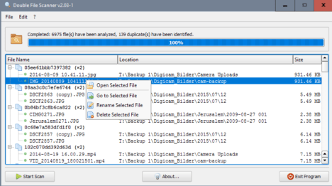 Double File Scanner