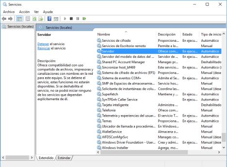 Compartir en Windows 10