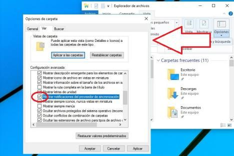 Anuncios en Explorador de Windows 10