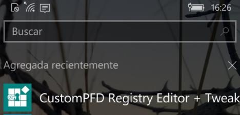CustomPFD Registry Editor Windows 10 Mobile