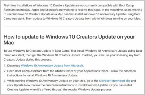 Windows 10 Creators en Mac
