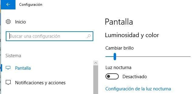 Modo Nocturno en Windows 10