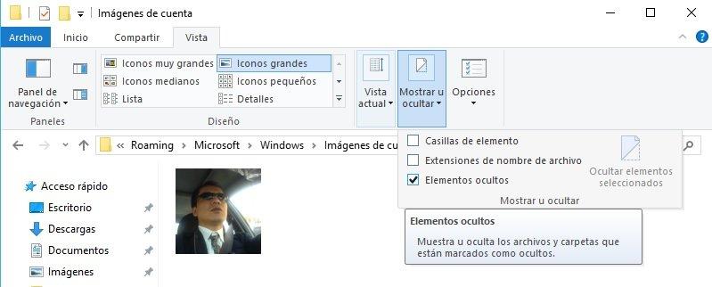foto de cuenta de usuario en Windows 10