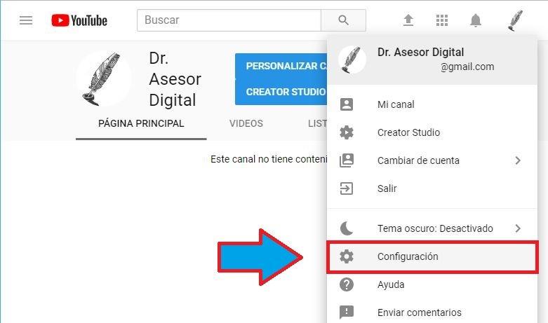control para padres en youtube