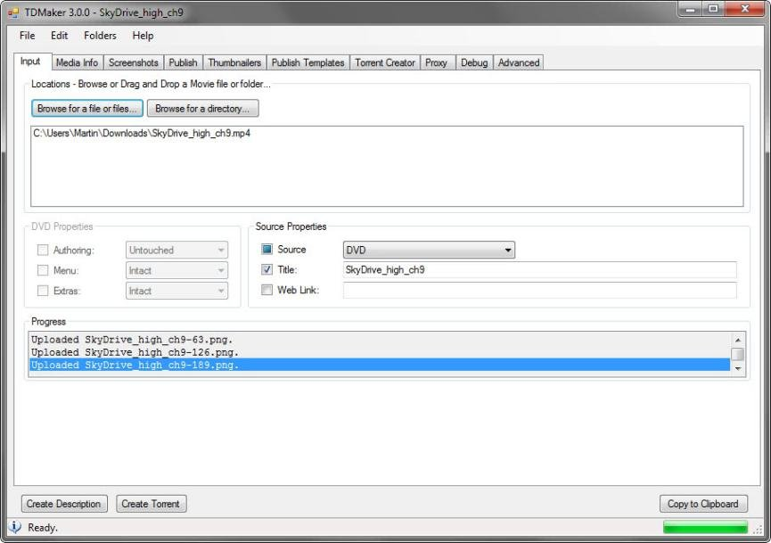 Crear Archivos Torrent con TDMarker