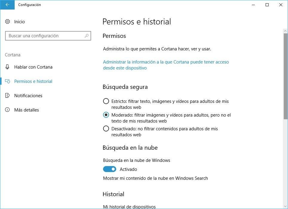 Cortana en Windwos 10