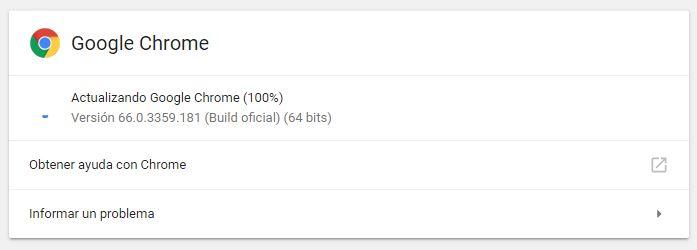 Google Chrome version 67