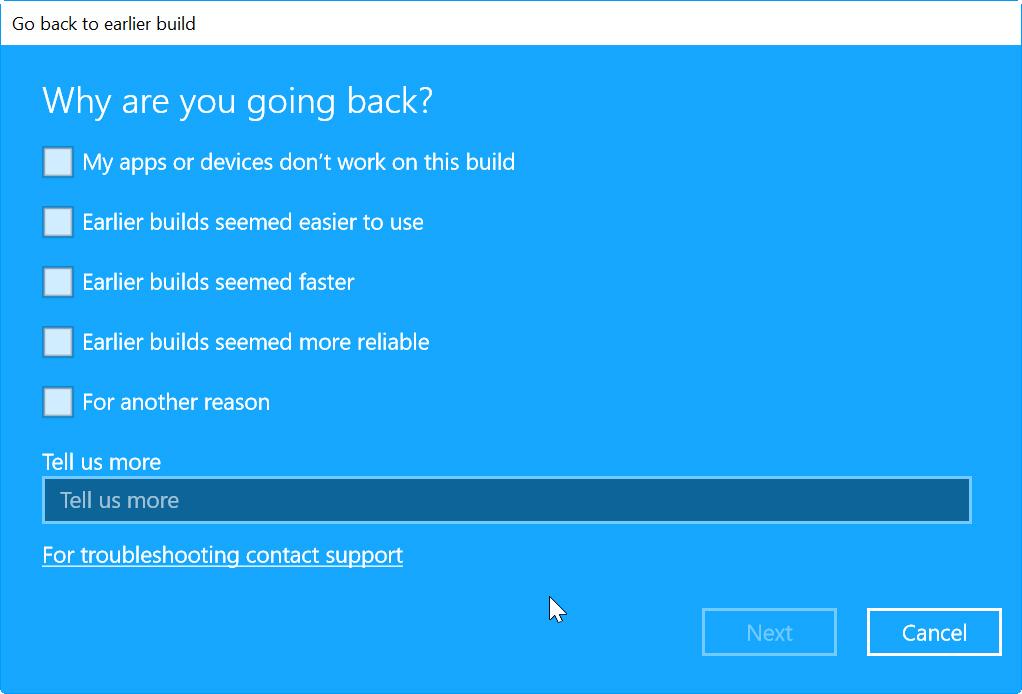 recuperacion en Windows 10