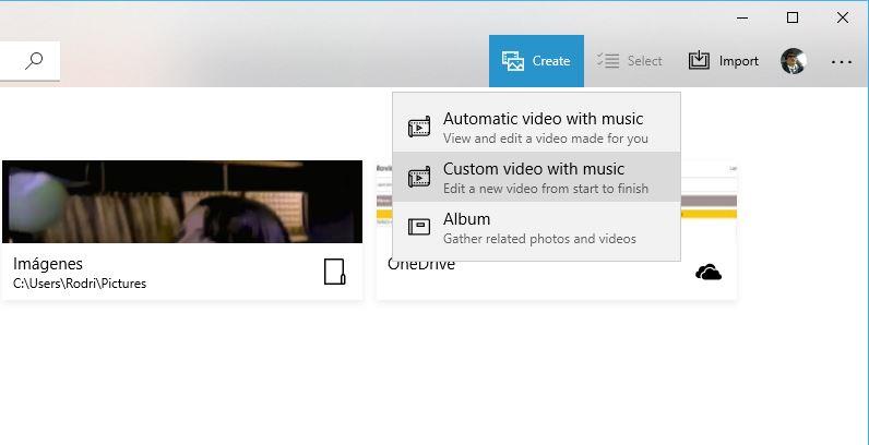 Microsoft Photos mezclar varios videos