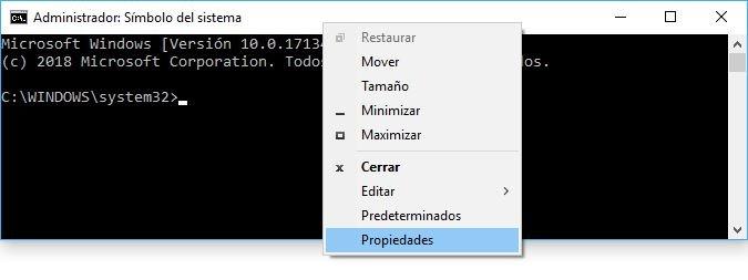 truco CMD en Windows 10
