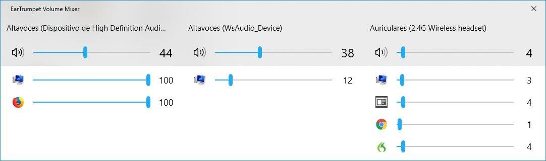 EarTrumpet mezclador de volumen Windows 10
