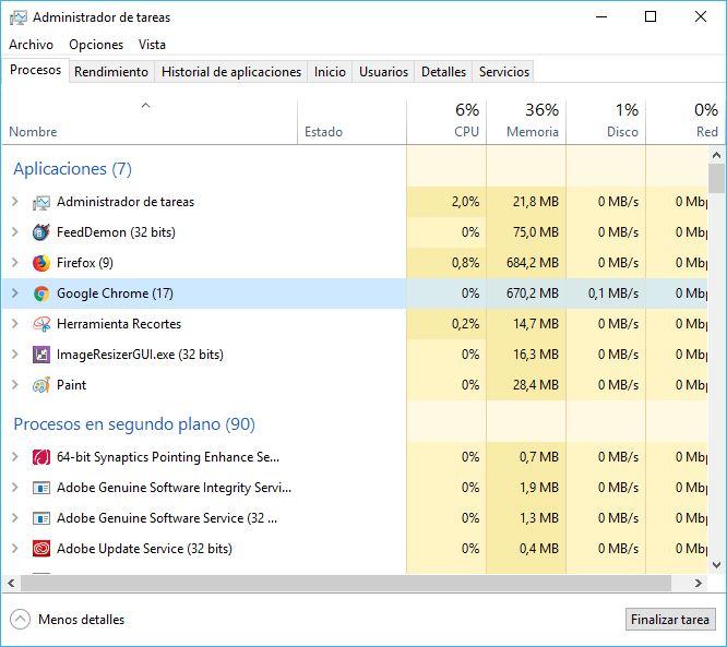 Mozilla Firefox versus chrome consumo de RAM