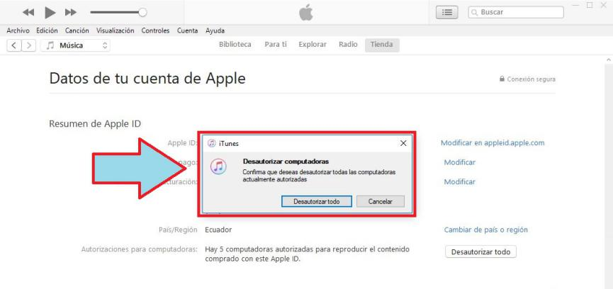 Autorizar mi PC con iTunes