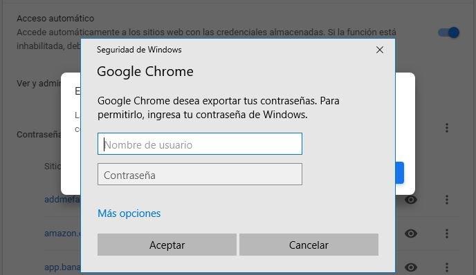 recuperar claves de Chrome