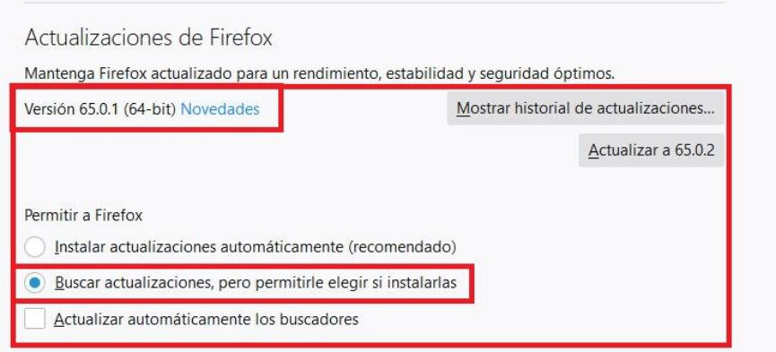 Reinstalar Firefox 62
