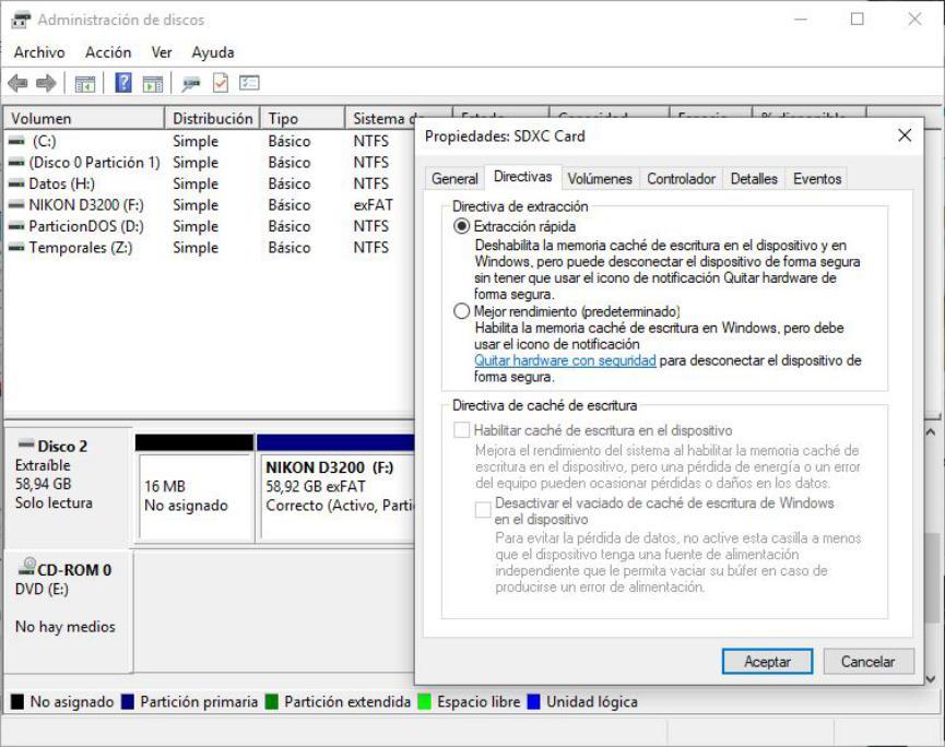optimizar Pendrive USB en Windows 10