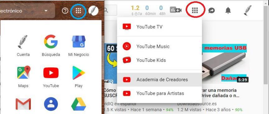 Los Accesos Directos de YouTube sin Similares a los de Google.com