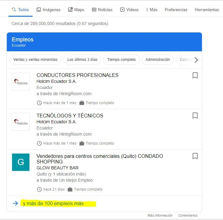 como buscar trabajo con Google Empleos