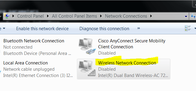 How to Enable / Disable WiFi Connection