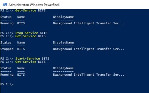 How to Start/Stop Service from PowerShell