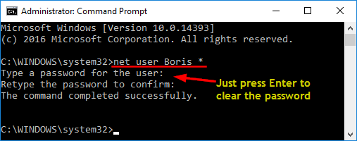How to Disable Windows 10 Password from Command Prompt