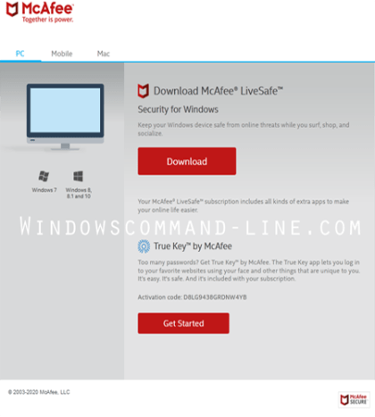 McAfee LiveSafe Download Free