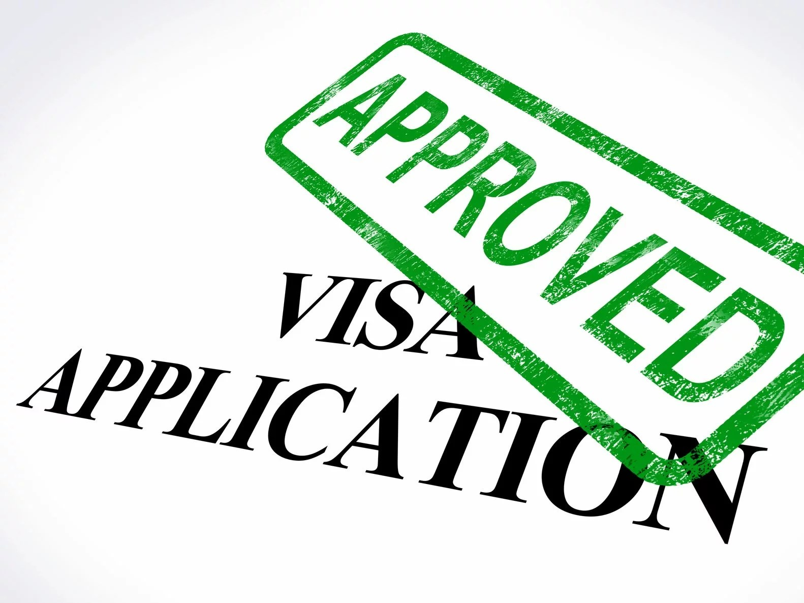 13965435 - visa application approved stamp showing entry admission authorized